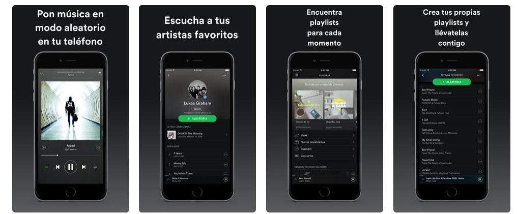 Descargar Spotify en iOS